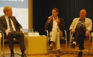 Podiumsdiskussion am Tag der Promovierenden u. a. mit Kevin Heidenreich, Benjamin Bigl, Prof. Dr. Ulrich Brieler